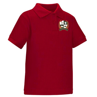 Red High School Polo Shirt