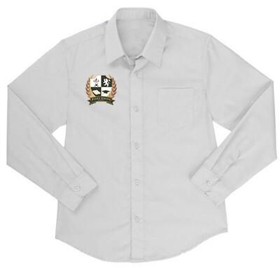 Boys White Oxford Button Down Shirt