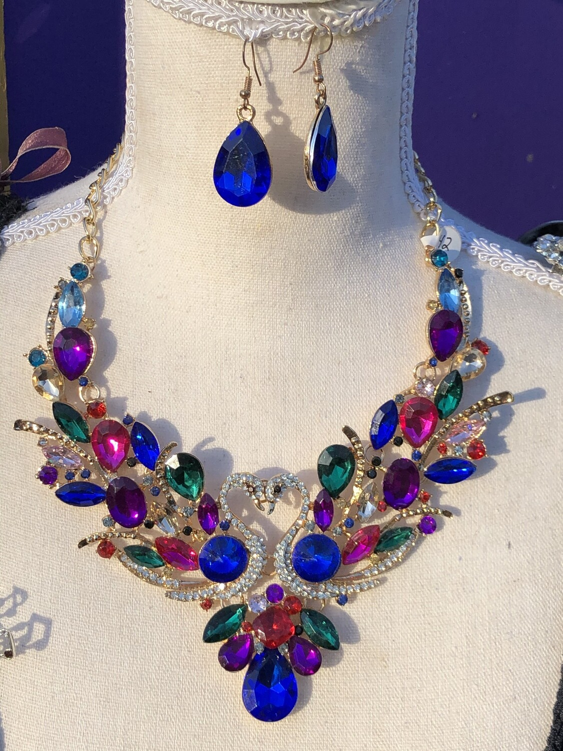 Peacock necklace set