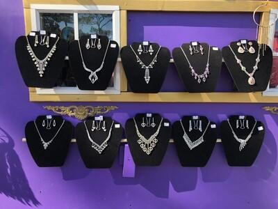 Rhinestone necklace sets