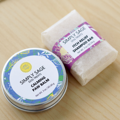 Dog Paw Balm & Itch Relief Shampoo Bar Set