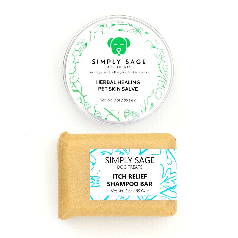Pet Skin Salve & Itch Relief Shampoo Bar Bundle