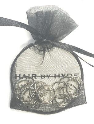 HAIR by HYDE silver tone hair rings