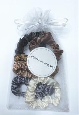 HAIR BY HYDE MINI SATIN SCRUNCIES  x 6