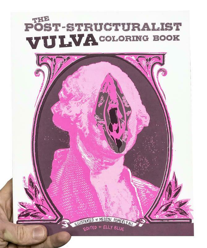 Post-Structuralist Vulva Coloring Book - Blue & Pomerleau