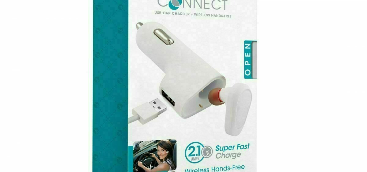 69055 CONNECT & CHARGE USB CAR CHARGER + BT HANDS FREE