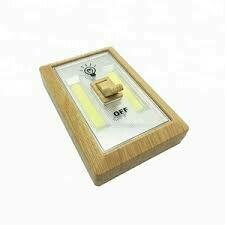 8483 WOOD GRAIN COB LED NIGHT LIGHT SWITCH
