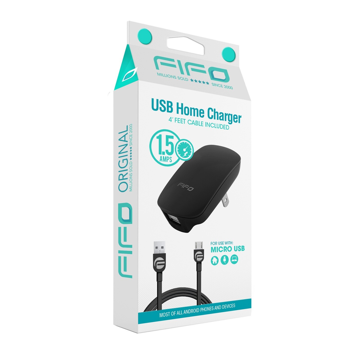 "10315 ""O"" USB TRAVEL CHARGER FOR MICRO USB DEVICES"