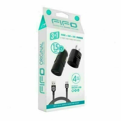 60118 USB CAR / TRAVEL CHARGER FOR MICRO USB
