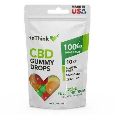 73903 ReThink Gummy Drops 100mg 10ct Bags