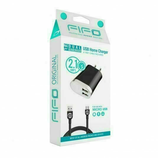 10323 FIFO DUAL ENERGY 3.1 A SUPER FAST USB HOME CHARGER