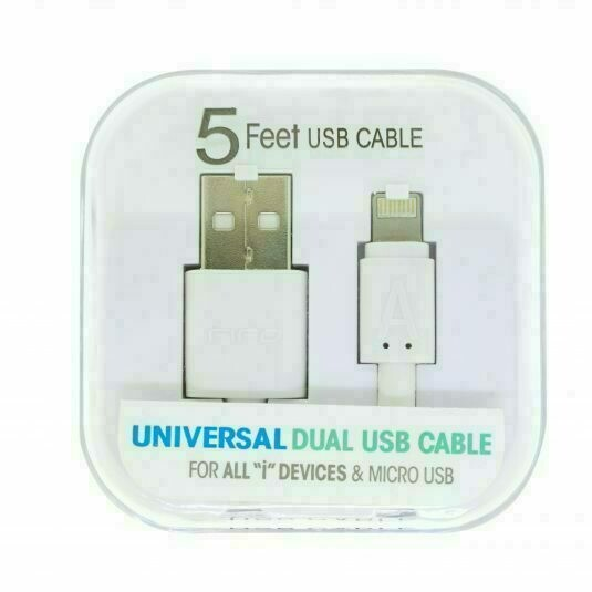 47011 Universal Dual USB Cable 5FT