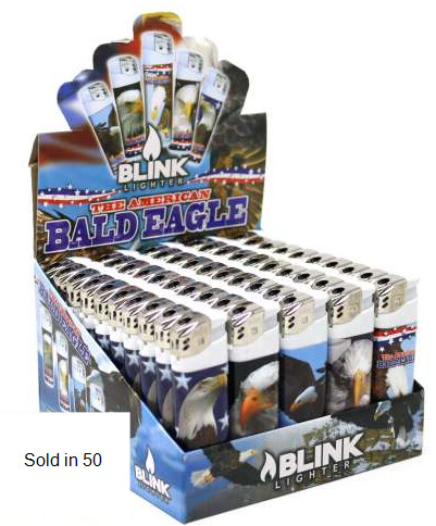 BLINK 134823 BALD EAGLE ELEC LIGHTERS 50 CT
