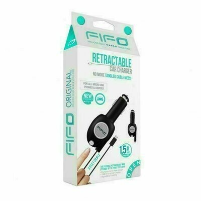 35621 FIFO RETRACTABLE MICRO USB CAR CHARGER
