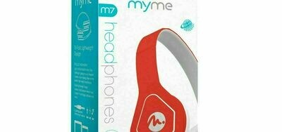 69001 MYME HEADPHONES IN RED M7