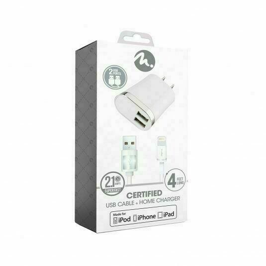 FIFO MFI HOME CHARGER WITH 4 FT CABLE
