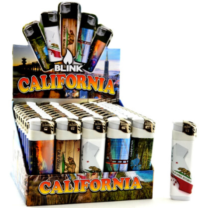 13485 CALIFORNIA ELECTRONIC LIGHTERS 50 CT