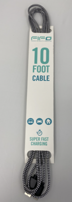 47223 10FT IPHONE CABLE SUPER FAST CHARGING