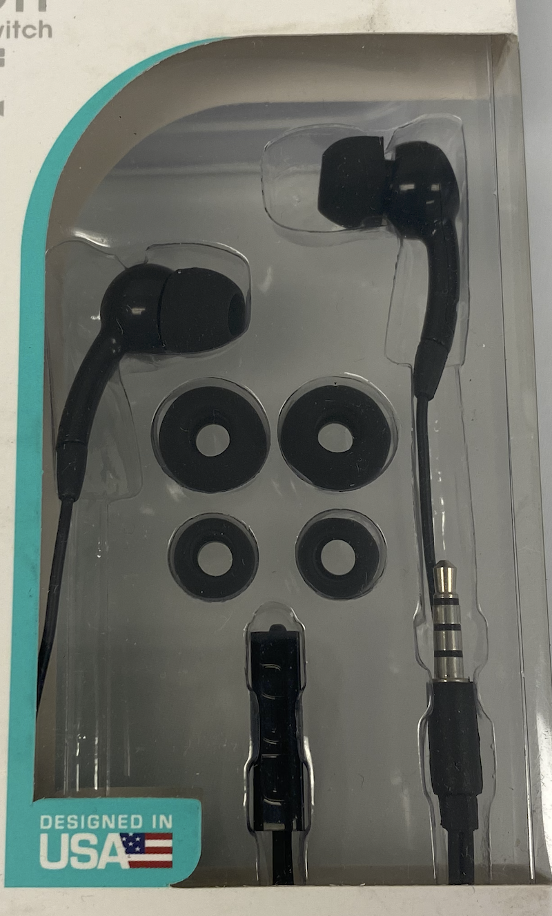 60104 MP-900 UNIVERSAL 3.5MM HANDS-FREE WITH ON/OFF IN BLACK