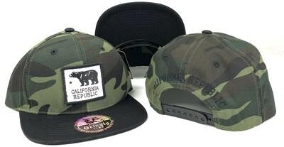 CALIFORNIA REPUBLIC BEAR SQUARE PATCH