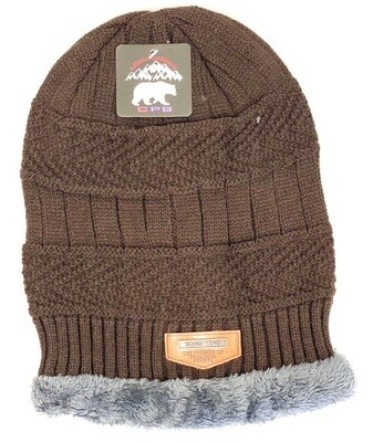 FLEECE LINED BEANIES (ASSORTED COLORS)