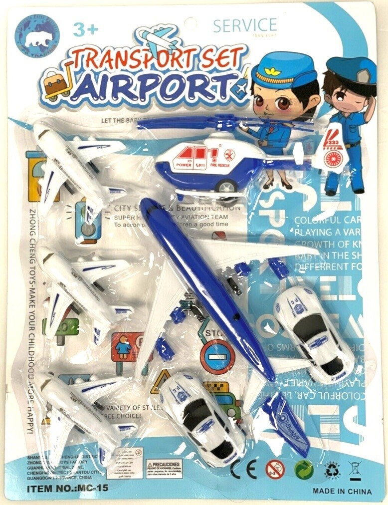 7PC PULL BACK TRANSPORT AIRPORT SET