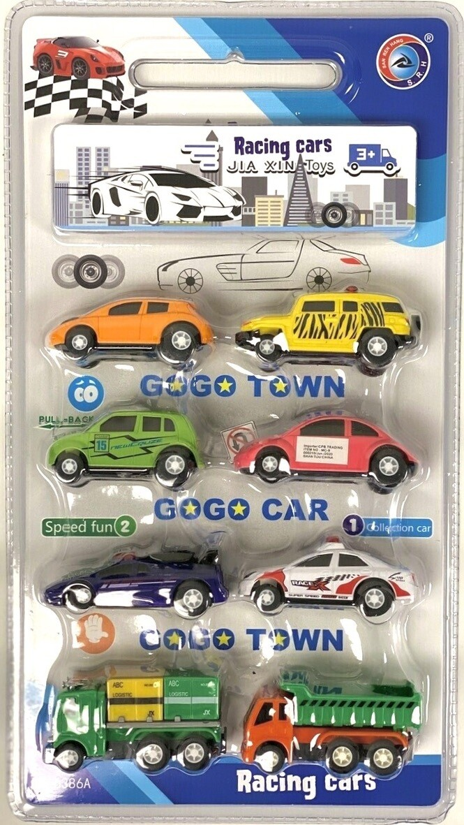 8PC PULL BACK RACING CARS