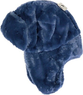SOLID COLOR RABBIT FUR HAT (ASSORTED COLORS)