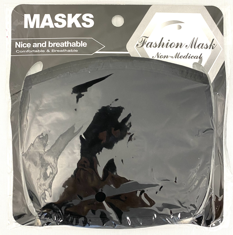MK-28 BLACK WASHABLE COTTON FACE MASK