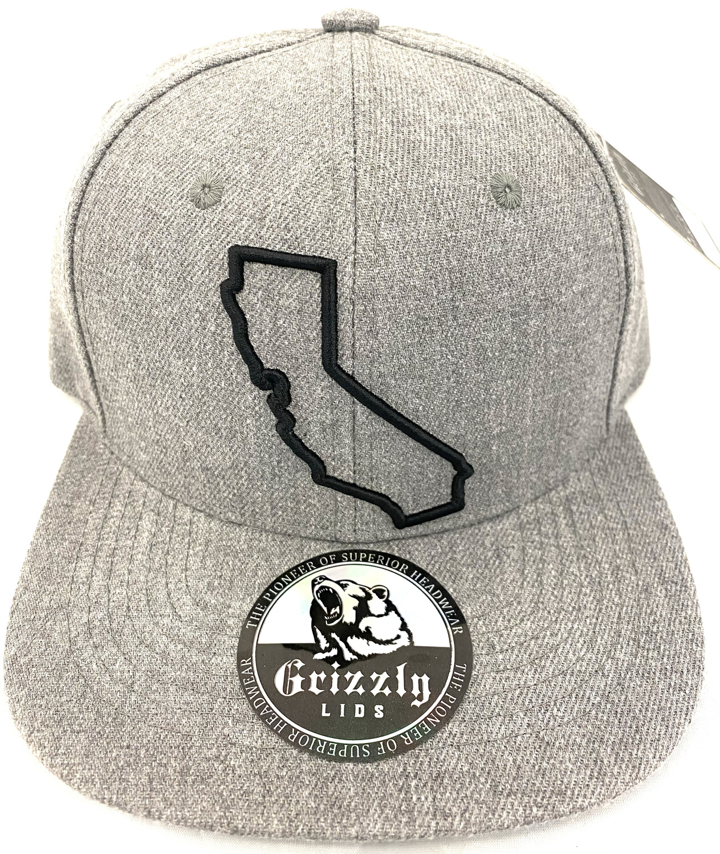 California Map Outline-Center Snapback Hat