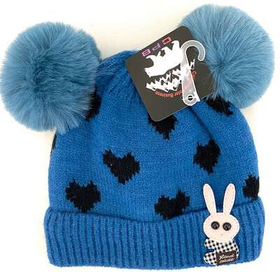 CW-012 KIDS DOUBLE BULB BEANIES