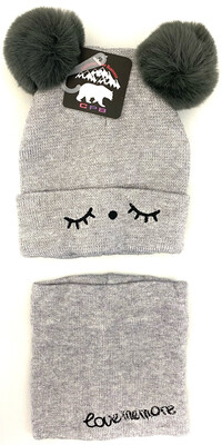 CW-019 KIDS CAT 2 PC BEANIES