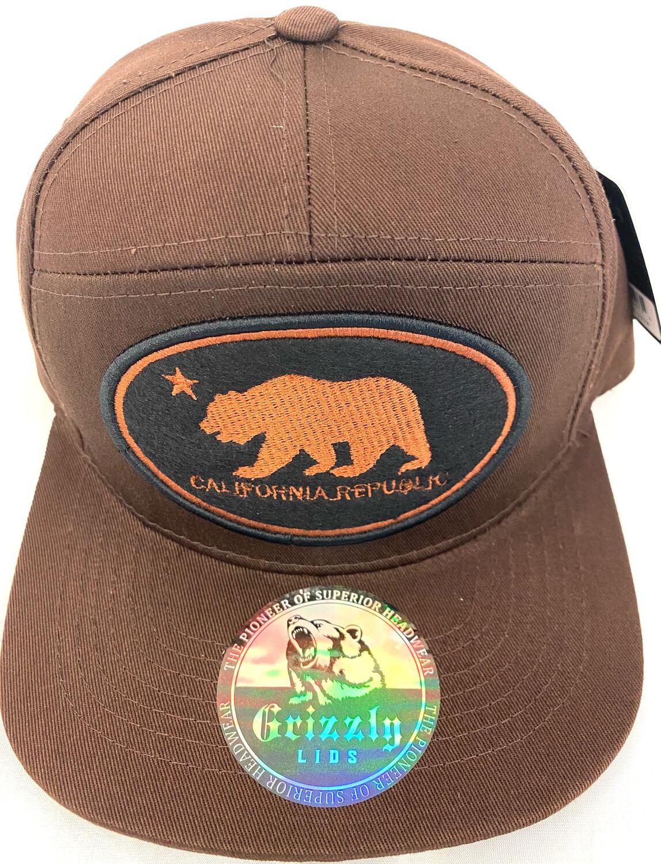 OVAL CALIFORNIA REPUBLIC BEAR SNAPBACK HAT