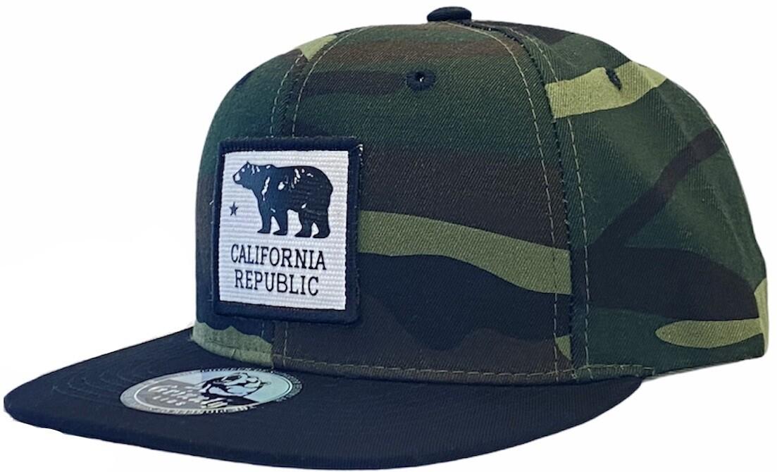 CALIFORNIA REPUBLIC BEAR SQUARE PATCH SNAPBACK HAT