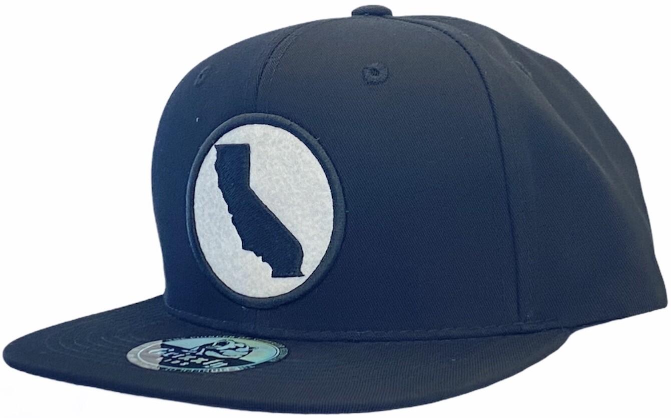 CALIFORNIA ROUND FELT PATCH SNAPBACK HAT