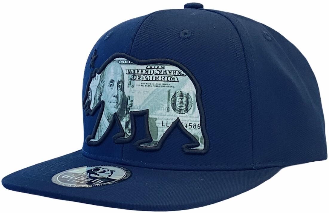 HUNDRED DOLLAR CALIFORNIA BEAR SNAPBACK HAT