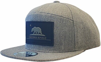 CALIFORNIA REPUBLIC RUBBER RECTANGLE PATCH SNAPBACK HAT