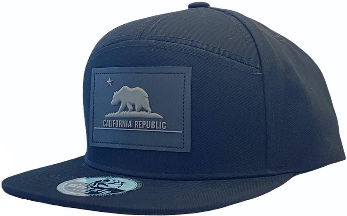 CALIFORNIA REPUBLIC RUBBER RECTANGLE PATCH SNAPBACK HAT