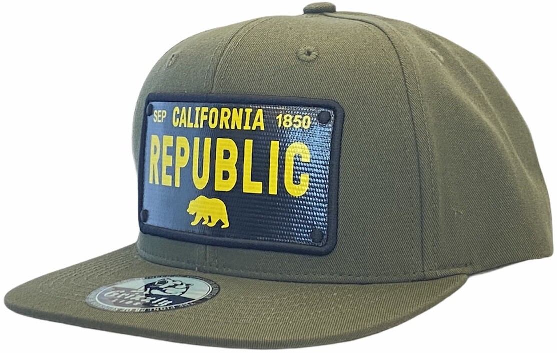 CALIFORNIA LICENSE PLATE SNAPBACK HAT
