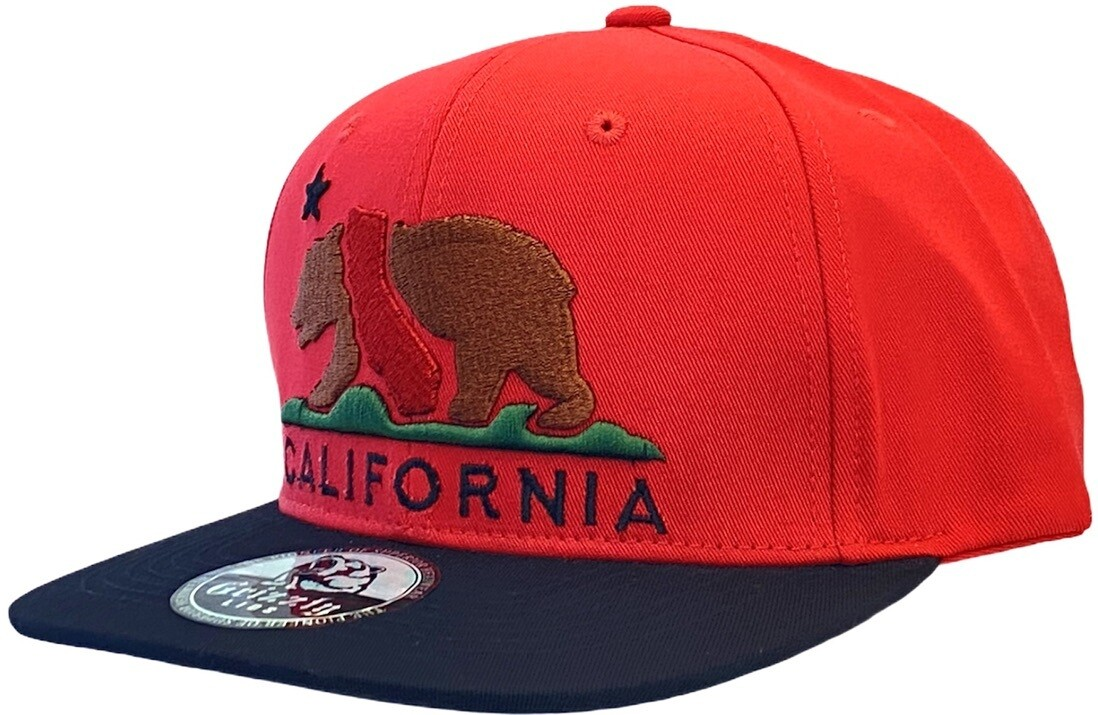 CALIFORNIA BEAR MAP INSERT SNAPBACK​ HAT​​