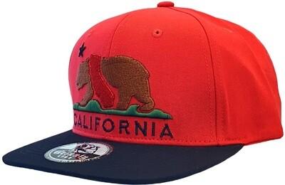 CALIFORNIA BEAR MAP INSERT SNAPBACK HAT