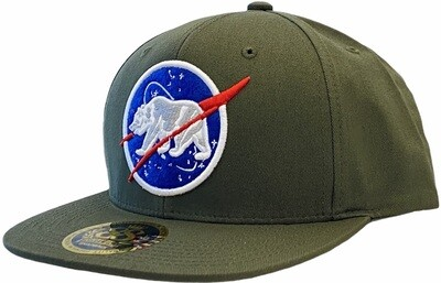 CALIFORNIA BEAR SPACE SNAPBACK HAT