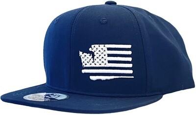 WASHINGTON MAP USA FLAG INSERT SNAPBACK HAT