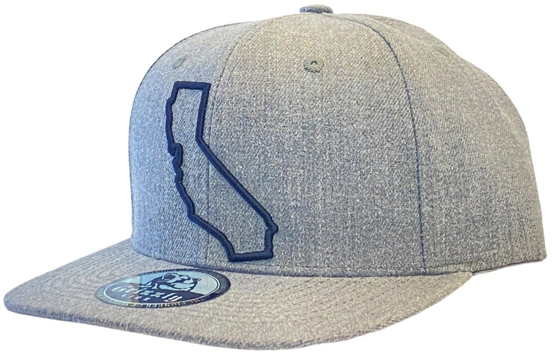 California Map Outline-Center Snapback Hat