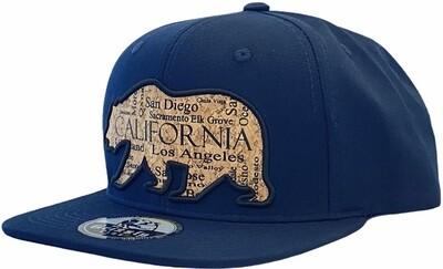 CALIFORNIA BEAR CORK WITH CA CITIES SNAPBACK HAT