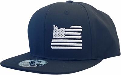 OREGON MAP USA FLAG INSERT SNAPBACK HAT