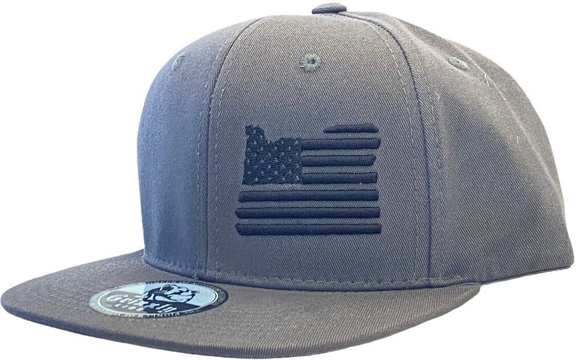 OREGON MAP USA FLAG INSERT SNAPBACK HAT