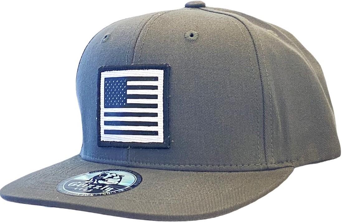 USA SQUARE FLAG SNAPBACK HAT