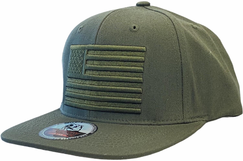 USA FLAG EMBROIDERY SNAPBACK HAT
