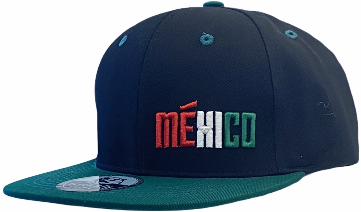 MEXICO MEHICO EMBROIDERED SNAPBACK HAT